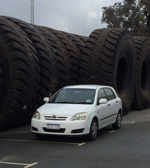 mining truck tyre size