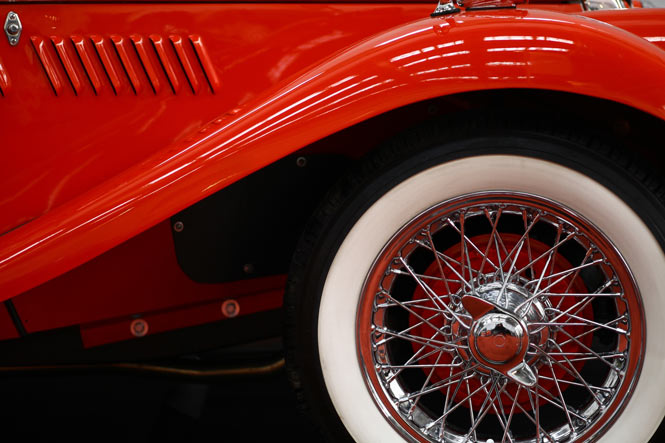 vintage car tyre