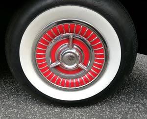 white rim car tyre
