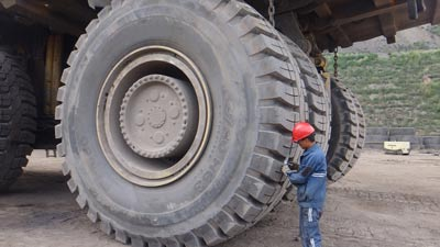 extra large mining tyre to be recycled