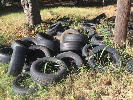 more discarded old tyres