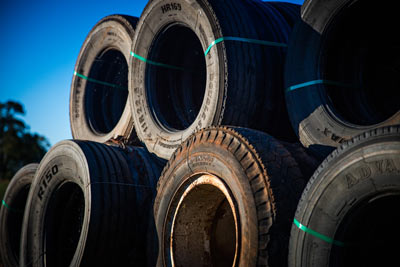large old tyres