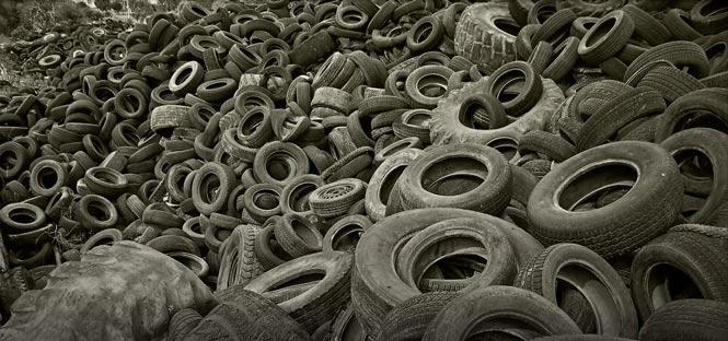 old tyres in Australia